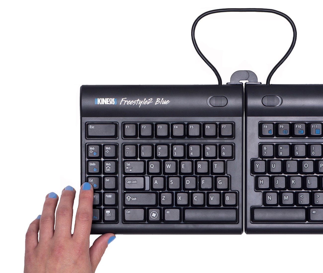 Computer input devices has introduced freestyle a range -  Kinesis Freestyle 2 Multichannel Bluetooth Using Keyboard Shortcuts