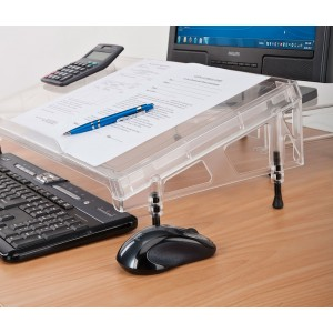 Regular Microdesk side view. Product is adjustable up to 45mm at the rear and 30mm at the front