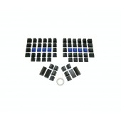 Blank Keycap Set - Black for Kinesis Advantage Keyboard